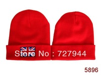 2014 new arrival 3 colors British flag Beanie hats Most popular classic mens & women winter knitted caps Free shipping