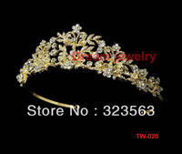 Free shipping crystal bridal Crown Princess Tiara Bridal Wedding Party Prom Jewelry wholesale
