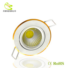 Free shipping 10w cob led celing light 85-265v 900lm Aluminum materail Gold side cob recessed lamp(China (Mainland))