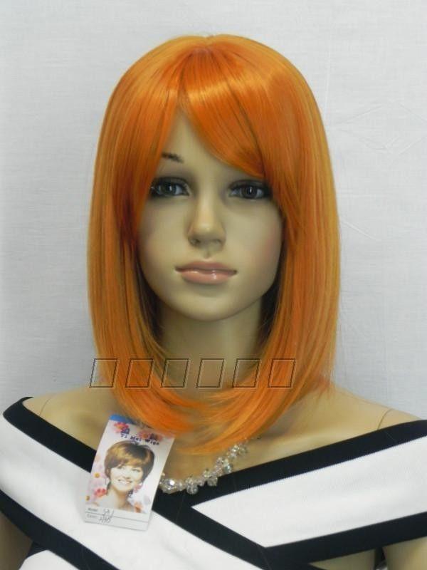 [해외]FREE SHIP된다된다된다 패션 사랑스러운 오렌지 가발 짧..