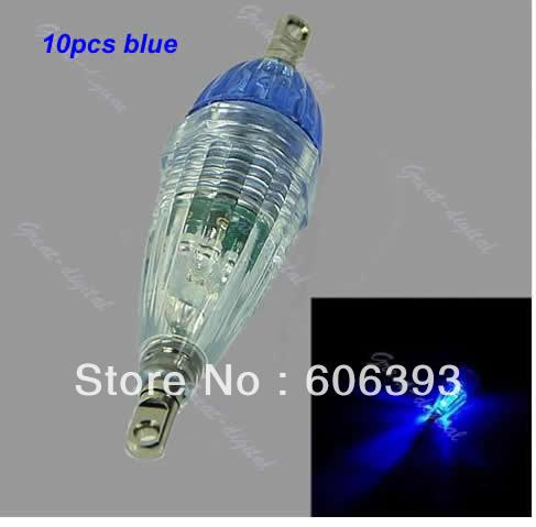 A25Free Shipping 5Pcs/lot LED Mini Deep Drop Underwater Fishing Squid Bait Lure Light Blue Flashing(China (Mainland))