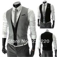 Wholesale! Business casual suit vest fashion vest three British V-neck vest buckle high quality menswear