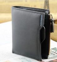 Free shipping new 2014 hot sales top grade brand wallets Smoke cassette zipper short genuine leather wallet men wallets