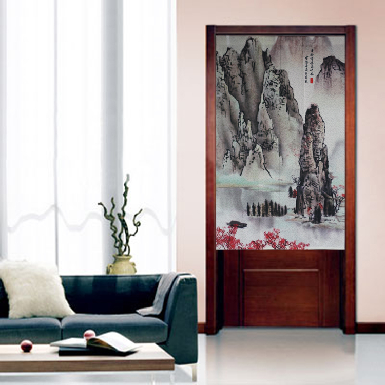 Chinese Landscape Painting Japanese Doorway Door Curtain JOY-5912(China (Mainland))