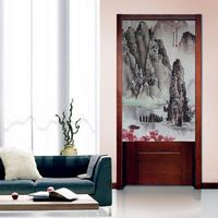 Chinese Landscape Painting Japanese Doorway Door Curtain JOY-5912