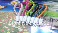 Effecient & Neat Magnet Flat V8 Noodle USB Charger Cable For samsung s3 s4 note3 n7100 with retail package