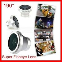 190 degree super  fish eye lens for cell phone camera lens