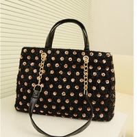 New Arrival Champagne Color Shining Crystal Fashion Women's Handbag Shoulder Bags Free Ship