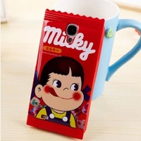 Free Ship Cute Peko Candy Collection Milky Boy &Girl Soft Silicon Case for Samsung Galaxy Note 3 with Retail Package
