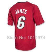 LeBron James 2013 Christmas Day Jersey Red Color Size S-XXXL 6# James Man's Basketball Jersey 2013 Newest REV 30