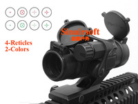 Comp M2 Type Red Dot Sight Scope With 4 Multi Reticle In 2 Colors Red & Green For Airsoft Free Oblique Arm Mount