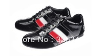 Free shipping! New brand Britpop fashion genuine leather casual shoes men's sneakers sport shoes low shoes wholeSale price