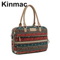 Retro Bohemia ethnic customs canvas ladies handbag women laptop briefcase 13 14 15 inch notebook computer bags