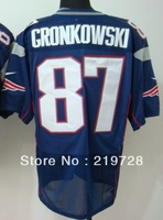 Free Shipping - Elite Stitched New England #87 Rob Gronkowski American Football Jerseys, Accept Dropping Shipping