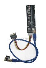 USB 3.0 Funciona PCI -E 1x a 16x máquina de mineração adaptador avançado extensor de riser SATA Cabo para Bitcoin(China (Mainland))