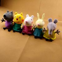 peppa pig doll 5pcs/set Peppa Pig's Friends 19cm plush toys Animal Dog / cat / sheep / rabbit / elephant stuffed animals & plush