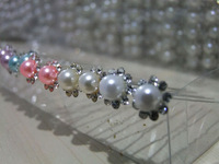 Special wholesale bridal headdress Korean dish made hairpin hairpin U-round pearl rhinestone hair pin 1000pcs/lots