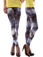 Spring 2014 New Fashion pants capris devaluation dress steal the spotlight Star Universe graffiti leggings lululemon for women