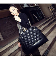 hot 2014 HOLLYWOOD Hot Sale Fashion Super Star plaid Handbag Women Shoulder handbags bags Ladies Messenger PU Leather Bag