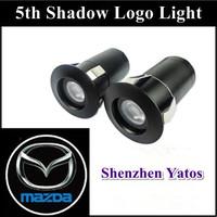 Mazda 7W 5Th LOGO car logo door light LED Welcome Light ghost shadow light