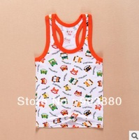 Wholesale 2014 Summer Character design Modal T shirt Cute Boy's Active Tanks baby Kids short t shirt