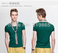 New in 2014 brand t shirt  men men's clothing t-shirt blouse casual sport clothes sexy shirts spring