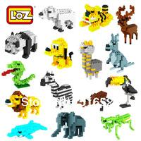 LOZ Diamond Blocks Toy Animal Series Building Blocks Sets Educational Bricks Girls Toys Gift Box 1 Piece
