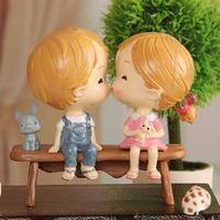 Resin lovers doll resin craft decoration wedding gift 1 shelfstool