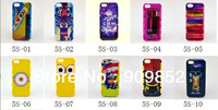 2014 New IMD Style Love Cover 2 in 1 PC+Silicon Combo Case For iPhone 5 5g 5s, 10pcs/lot Free Shipping