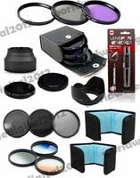 52MM FLD UV CPL Filter Set  +  Neutral Density ND FILTER SET ND2 ND4 ND8 For Nikon D5200 D5100 D5000 D3200 D3100 18-55mm Lens  F