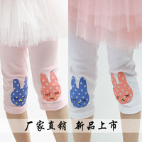 Free shiping 2014 female child legging child summer pants cartoon pants capris