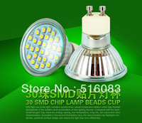 NEW Sale GU10 E27 MR16 3W 85-265V CREE SMD3528 30leds LED Light LED Bulb Lamp Glass LED Spotlight