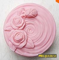 Silicone Cake Mold Bakeware Decorating Gum Paste Fondant Clay Soap Mold Rose Shaped 1pcs