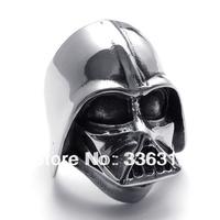 RA-1122242 silver stainless steel ring men's Star Wars skull U.S. Size 8 9 10 11 12 13 14
