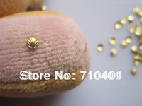 Hot Sale Free Shipping Wholesale/ Nail Supplier,100pcs 3D Glitter Gold Shell 3mm Decal DIY Tool Acrylic Gel Nail Design/Nail Art