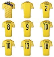 New 2014 World Cup Colombia home team soccer football jerseys t shirt sportswear equipment camisetas de futbol Thailand quality