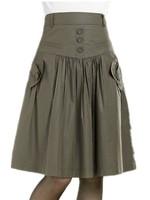 Free Shipping 2015 Spring Bust Skirt , Medium Skirt Vintage a-line Skirt Casual  S-M-L-XL-XXL-XXXL