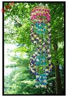 Shell caplights purple shell wind chimes japanese style hangings door trim crystal b10