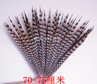 Diy material accessories crepitations pheasant copper chicken feather 70 - 75cm one piece