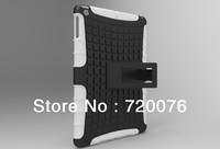 Free shipping via DHL/EMS 50PCS Fashion PC+TPU Gel Hybrid Curve KickStand High Impact Armor Hard Cover Case For Ipad 5 Air