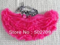 3pcs/lot zibra patten with hot pink color baby girls tutu skirt