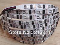 AAA 5M 16.4F 5V WS2801 32Leds/M 160LEDS black PCB addressable RGB LED magic dream color Strip light  non-Waterproof