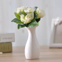 Black and white ceramic vase decoration modern fashion brief crafts home decoration abstract