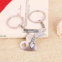 Couple key chain mini diamond bow arrow heart LOVE  Lover couple Key ring #K-26