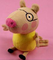 2014 new arrival 8pc/lot 19cm stuffed peppa pig geroge friends plush toys candy sheep rebecca rabit emily elephant freeshipping
