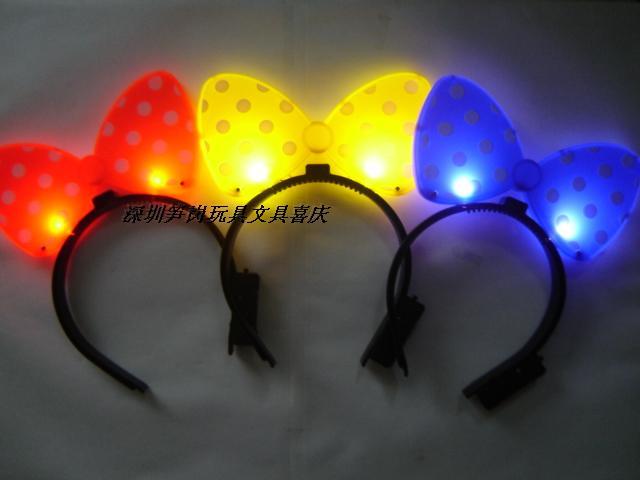 Hair accessory headband led luminous hair accessory wedding party flash gift bow(China (Mainland))