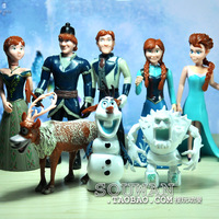 8pcs/set Frozen Movie Frozen Toys Doll PVC Action Figure Play Set