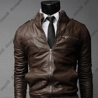 2014 new leather fur jacket men and thooo leather PU plus size XXXL motorcycle jacket