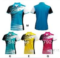 wholesale! 2014 free shipping New Women Victory Badminton/Table Tennis shirt