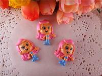 2014 new arrival kawaii bubble guppies resins flatback for hair bows flat back resins cameo hairbows 10pcs/lot  WQ14022414